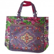 Purple Floral-paint Bag