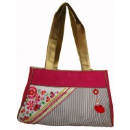 Red Bag with Golden Strap