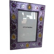 Purple Photo Frame with Art