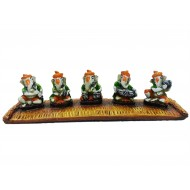 Multicolor Set of 5 Ganesha Playing Instruments