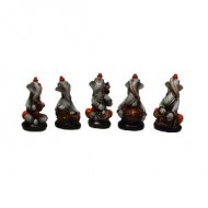 Set of 5 Indiviual Ganesha Playing Instruments