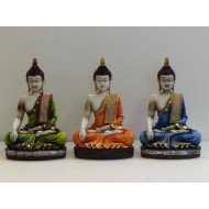 Set of 3 Meditating Buddha Idol