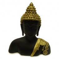 Black and Golden Half Head Buddha