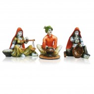 Set of 3 Rajasthani Dolls engaged in Different work