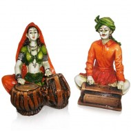 Set of 2 Couple as Musicians