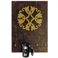 Black and Brown Square Carving Key Holder