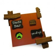 MDF Wooden Multicolor Dad's Bar Always Open Name Plate
