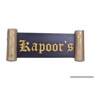 MDF Wood Kapoor's Name Plate
