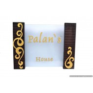 Acrylic And Sleeper Wood Palans Name Plate
