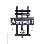 Bamboo Wood Agrawal's Name Plate
