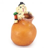 Ganesha on Pot Pen Holder