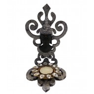 Black Buddha Carving Wall Clock
