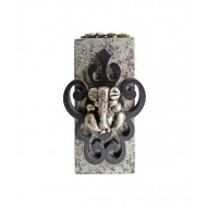 Black Carving Ganesha Key Holder