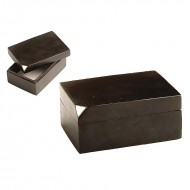 Visiting Card Box - silver corner box
