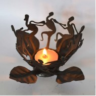 tribal dance candle stand