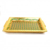 Minakari Gold tray Medium