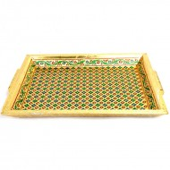 Minakari Gold Tray Big