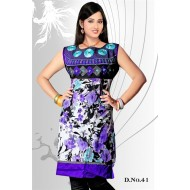 White violet casual Wear readymade kurti
