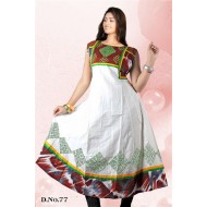 White red casual wear anarkali style kurti