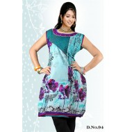 Light Blue casual Wear readymade kurti