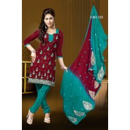 Printed Cotton Punjabi Dress Material