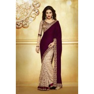 Designer Party Wear Embroidered Saree