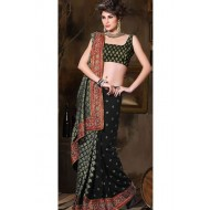 Black Georgette Party Wear Sarees
