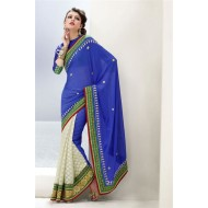 Party Wear Designer Embroidered Saree
