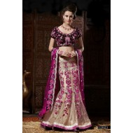 Embroidered Designer Wedding Lehenga Saree