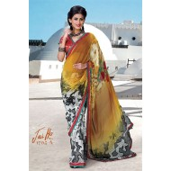 Printed Casual Georgette Saree with Blouse