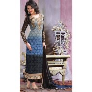 Georgette Party Wear Embroidered Suit
