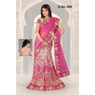 Embroidered Designer Bridal Lehenga Saree