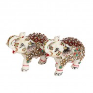 Showpiece Elephant pair