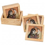 Kadamb wood coaster with bani thani