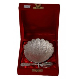 Seap shaped german silver serving tray