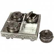 Oxidised ethnic dry fruit box