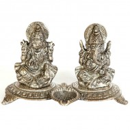 Oxidised traditional ganesh lakshmi sculpture for pooja mandir