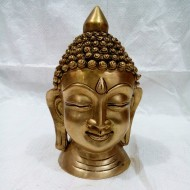 Decorative brass metal mahatma buddha face statue