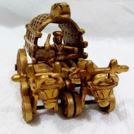Decorative cow cart in brass metal